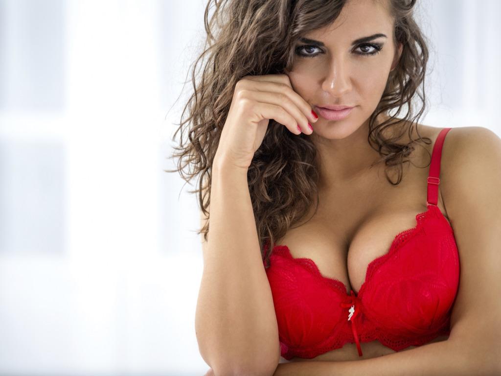 big boobs in red bra № 345887