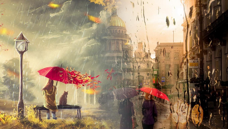 дождь питер обои для рабочего стола № 452380  скачать