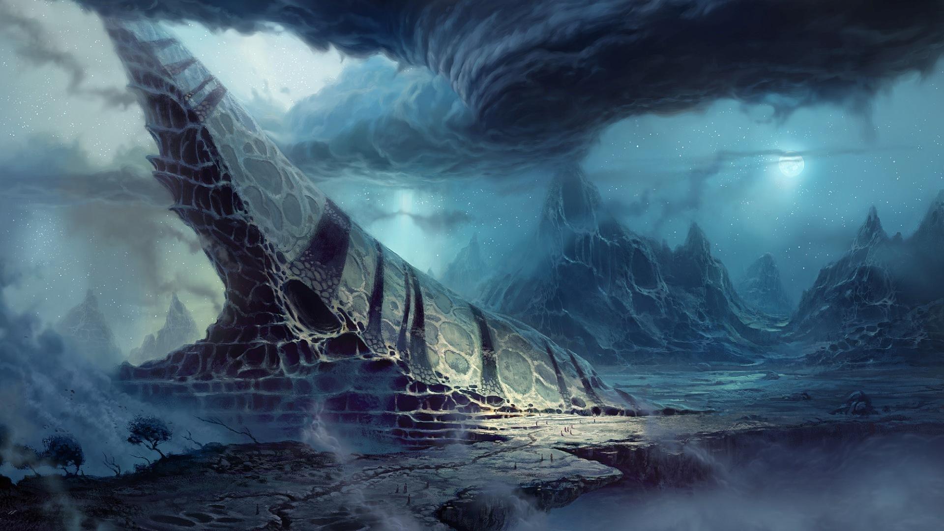 alien landscapes wallpaper - HD1600×900