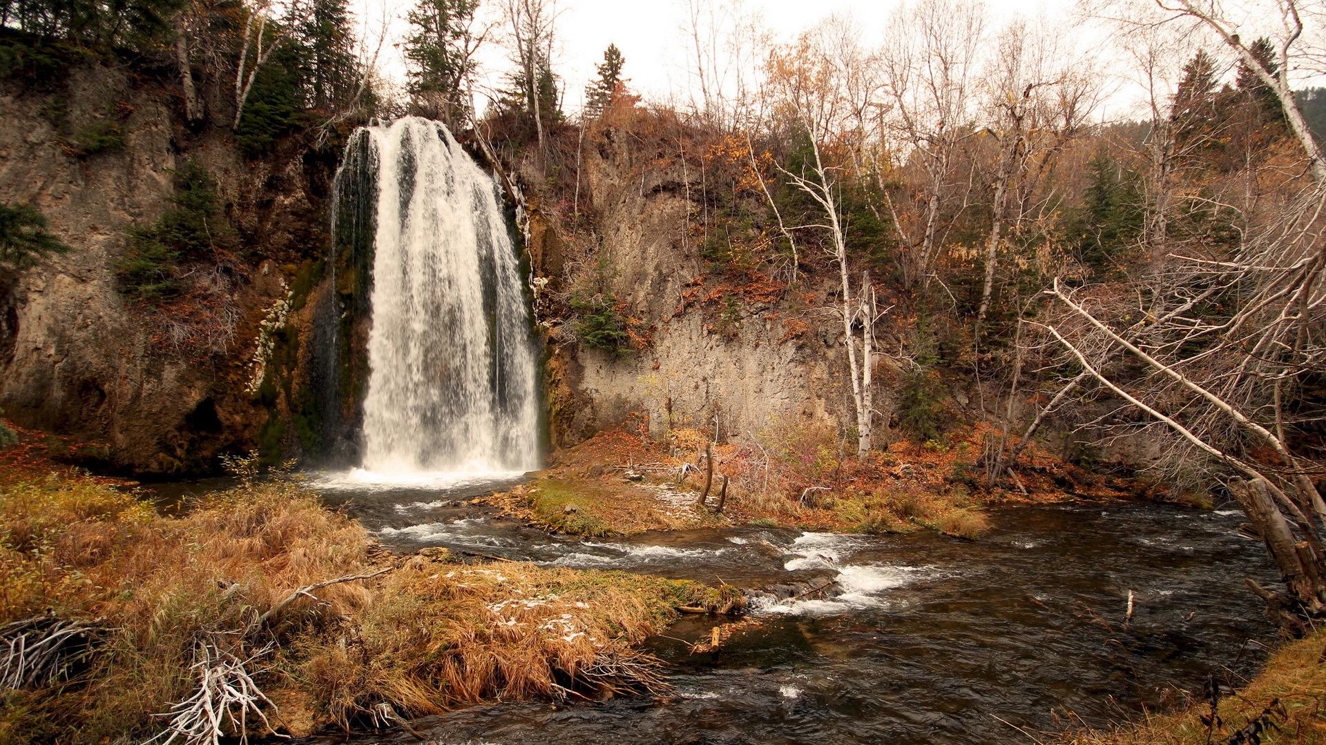 природа река водопад деревья  № 2490075  скачать