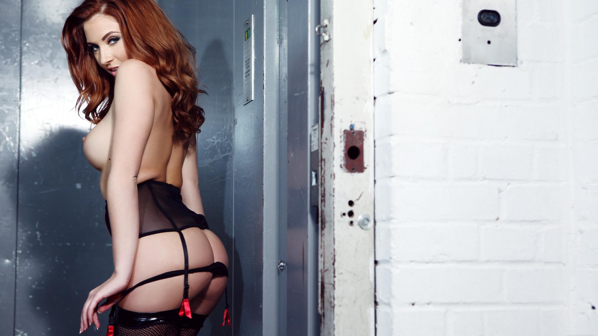 Прозрачное белье на рыжей, Мишель рыжая девчонка в прозрачном белье 9 фотография