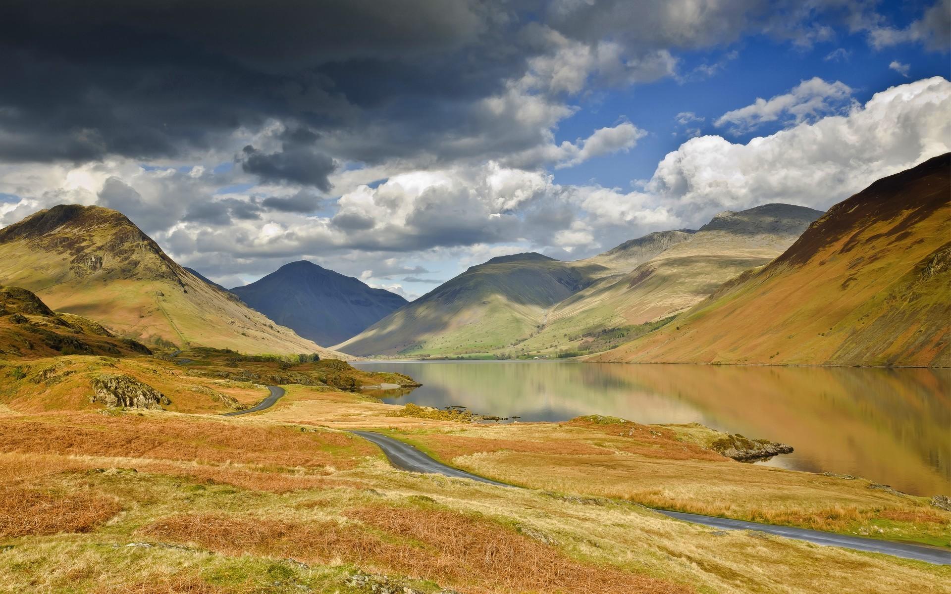 Озеро холмы  № 582630 бесплатно