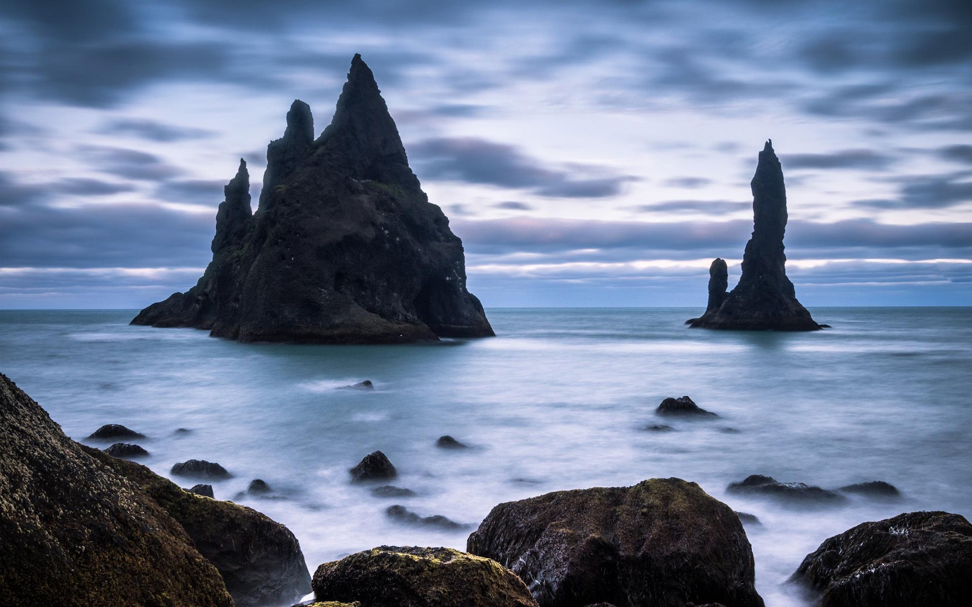 скала море камни rock sea stones  № 45206  скачать