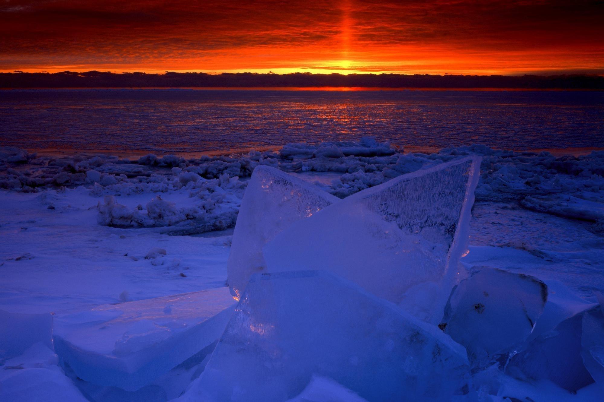 солнце льдины фокус  № 3229444 загрузить