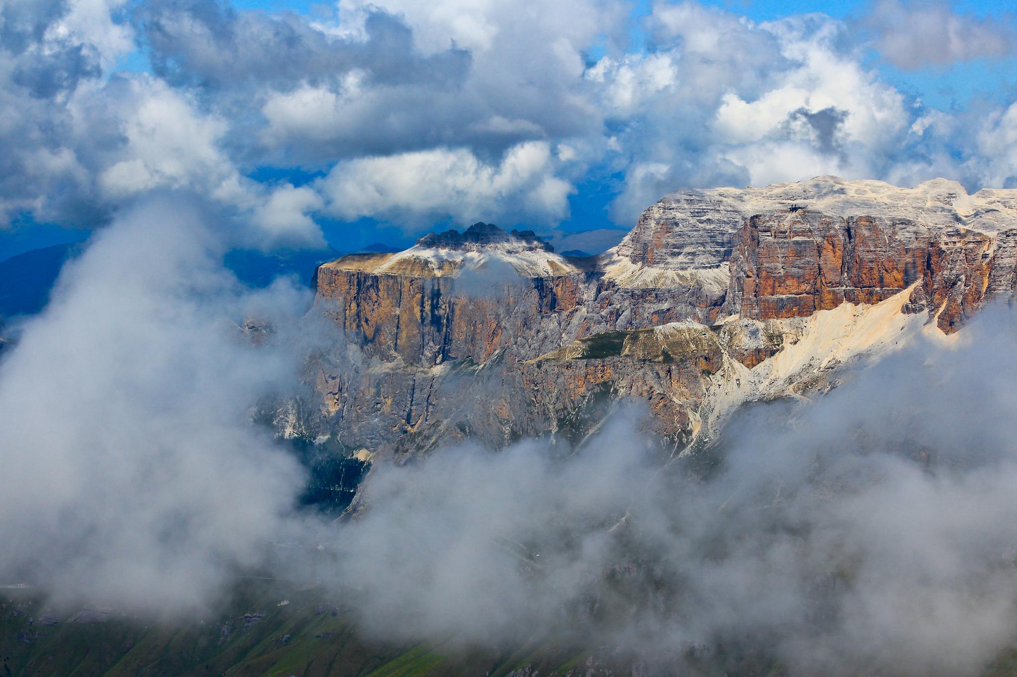 природа небо облака горы скалы  № 514756 бесплатно