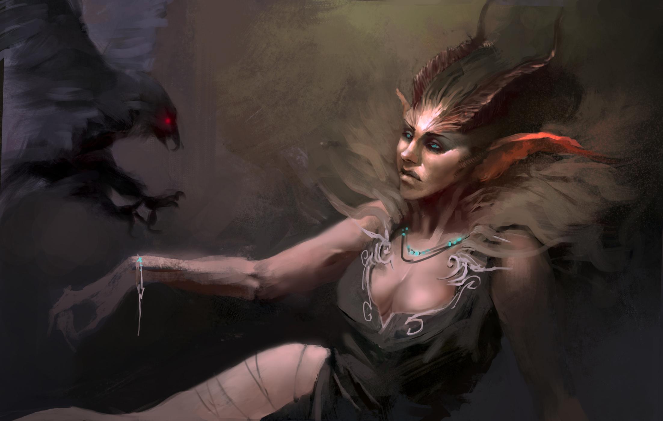 фото женщина демон