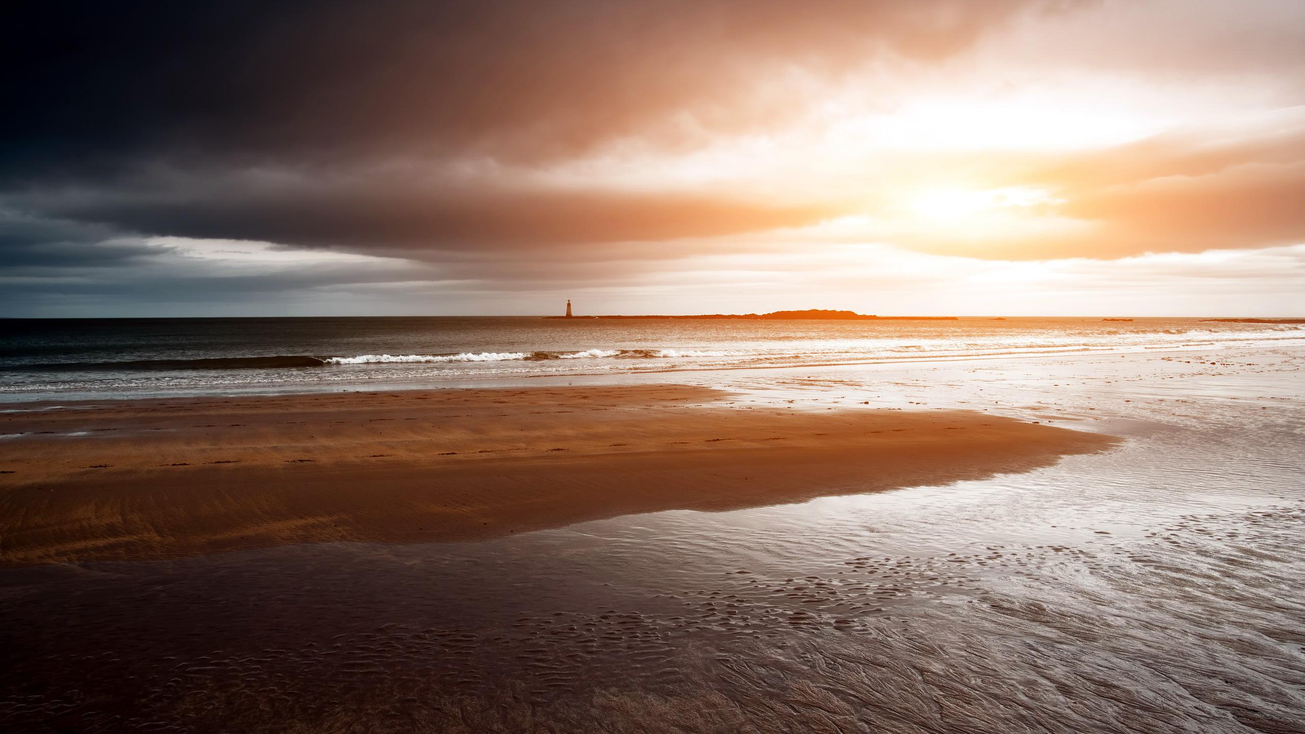 закат маяк море  № 1019954 бесплатно