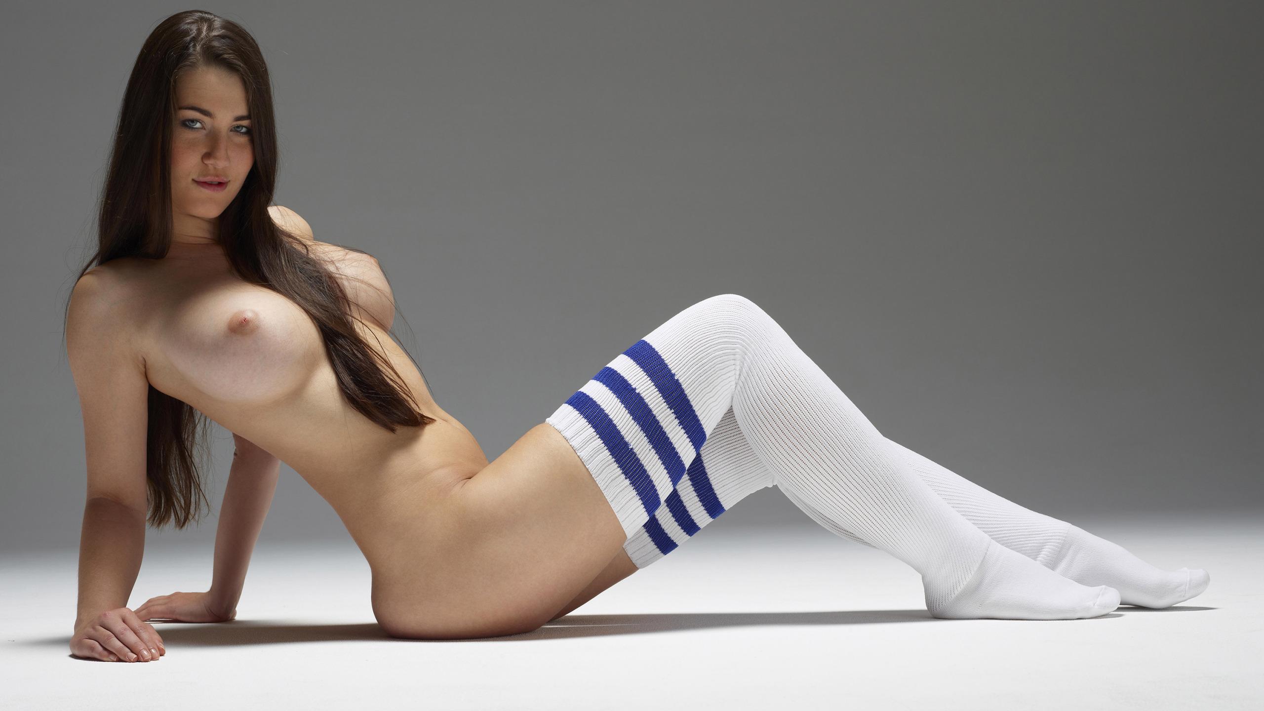 Female girl with knee high socks nude