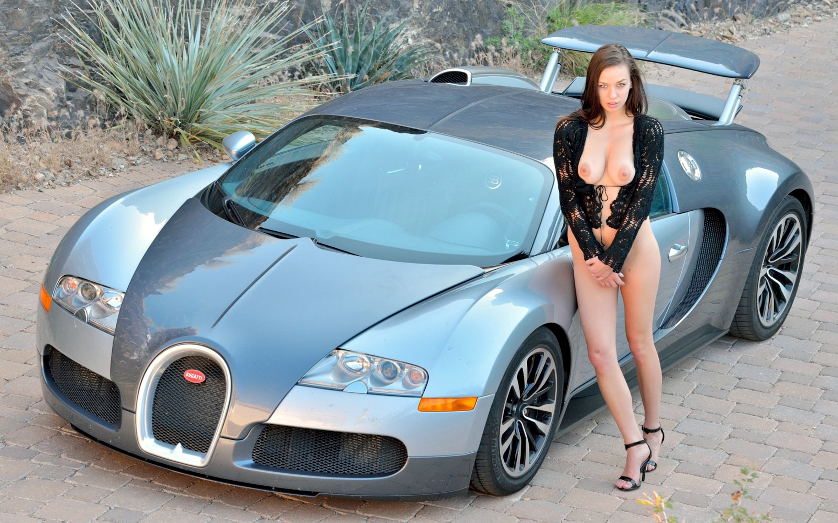 Naked girls and their cars, big tit amateur pics