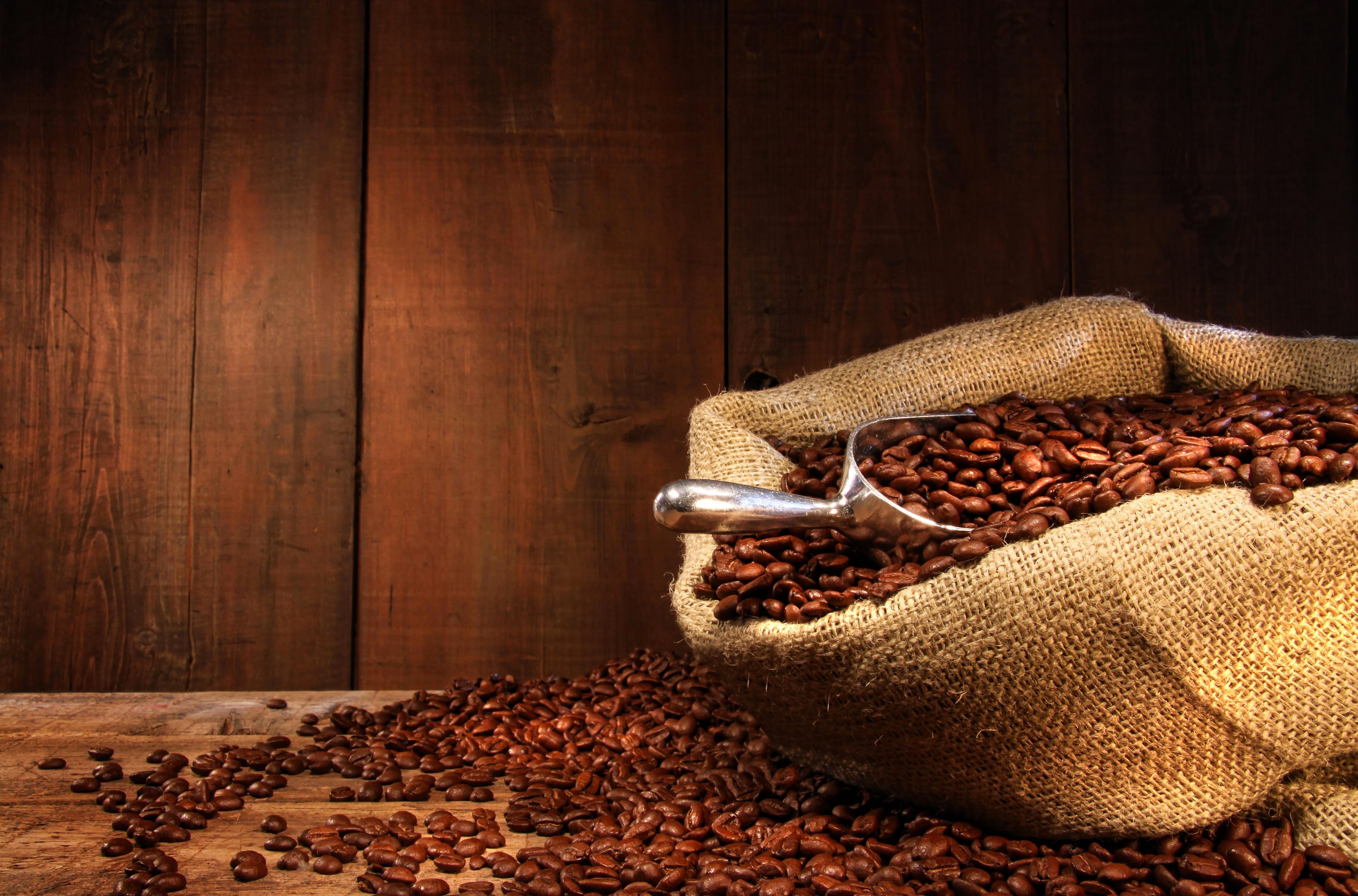 кофейные зерна мешковина ткань  № 3696077 без смс