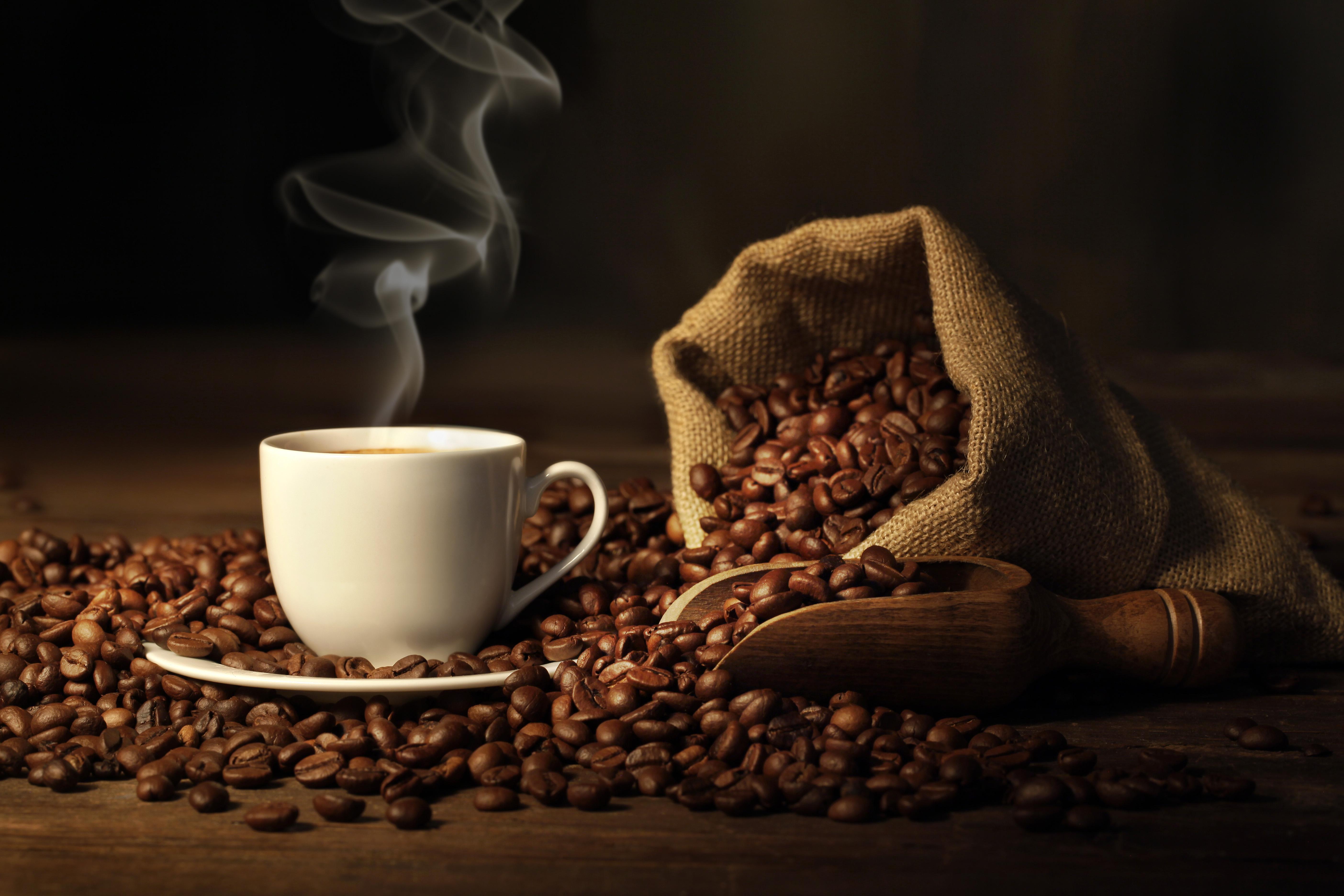 Чашка кофе с зернами  № 2153095 загрузить