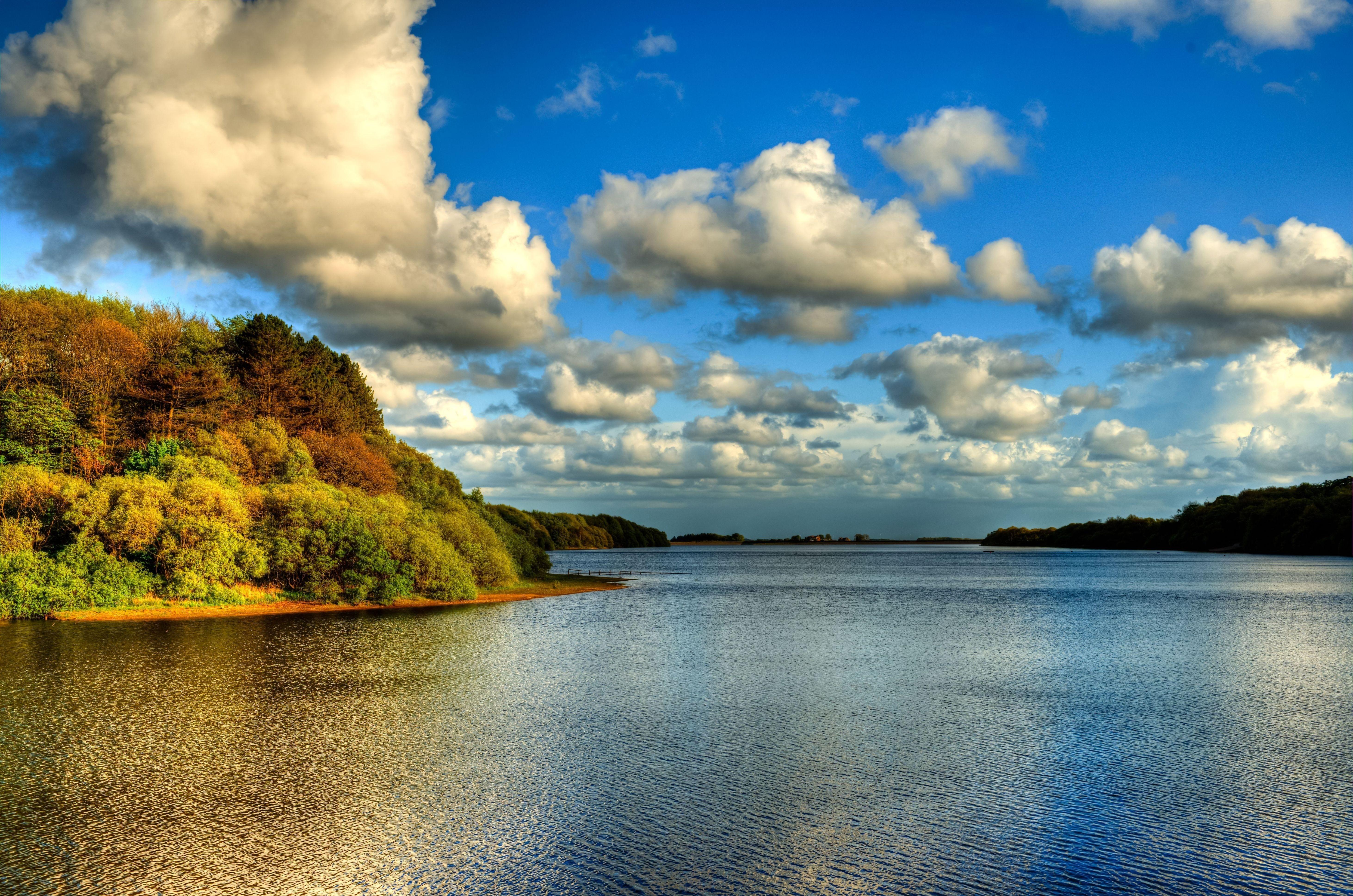 Природа облака небо река  № 2558890  скачать
