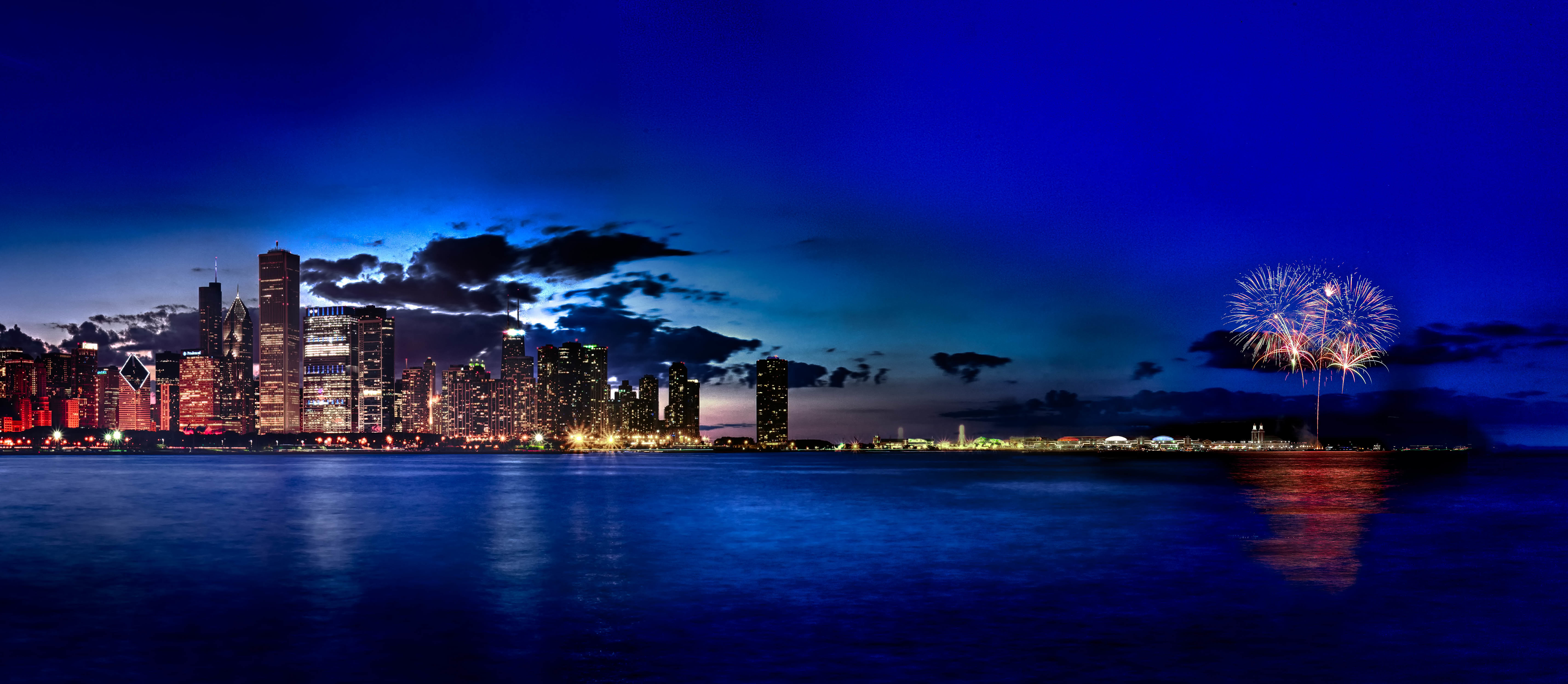 Ночной чикаго на побережье  № 282687 бесплатно