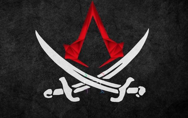 Фото обои фон, эмблема, Black Flag, Assassins Creed 4