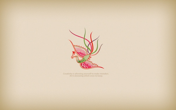 Фото обои линии, птица, creativity
