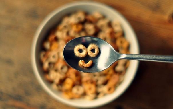 Фото обои улыбка, еда, завтрак, smile, food, breakfast, milk