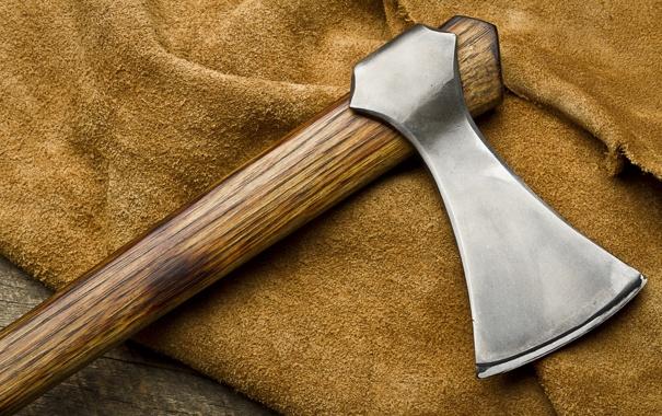 Фото обои axe, metal, wood