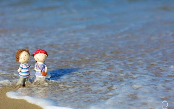Фото обои макро, вода, волна, игрушки