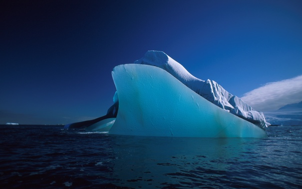 Фото обои лед, море, вода, айсберг