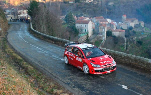 Фото обои Красный, Дорога, Ситроен, Citroen, WRC, Rally, Ралли