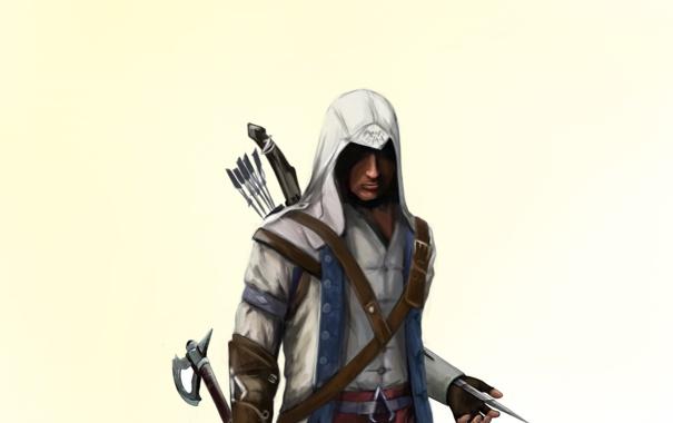 Фото обои connor, коннор, assassins creed, ассасин