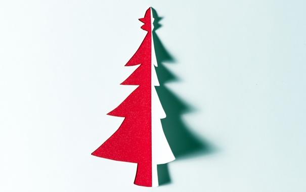 Фото обои праздник, ёлка, минимализм