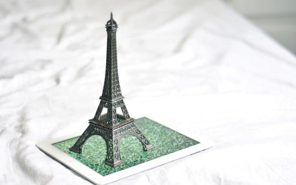 Фото обои статуэтка, Эйфелева башня, подставка, La tour Eiffel
