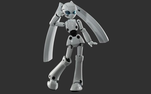 Фото обои робот, жест, белый, поза