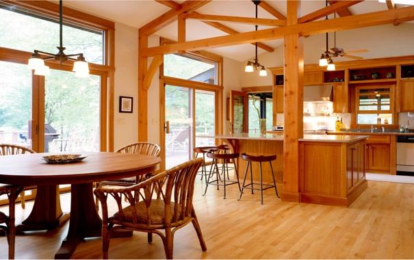 Фото обои дизайн, столовая, кухня, вилла, дом, интерьер, стиль
