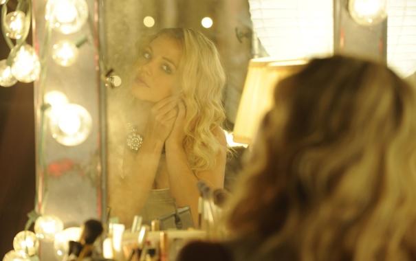 Фото обои девушка, зеркало, певица, Britney Spears, лампочки, Бритни Спирс