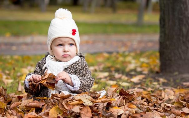 Фото обои осень, парк, настроение, девочка