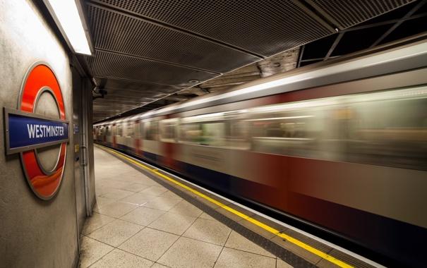 Фото обои город, метро, Westminster