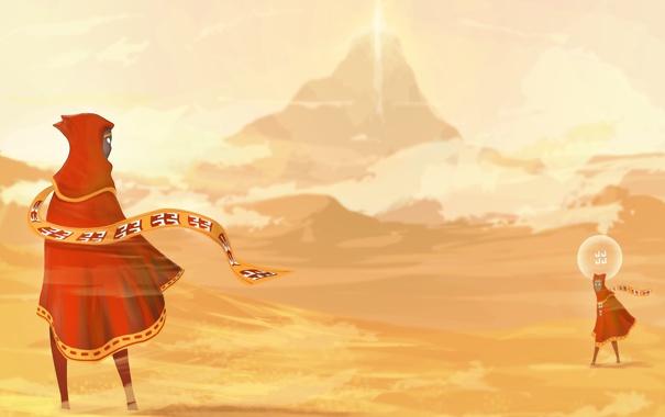 Фото обои горы, пустыня, путешествие, journey