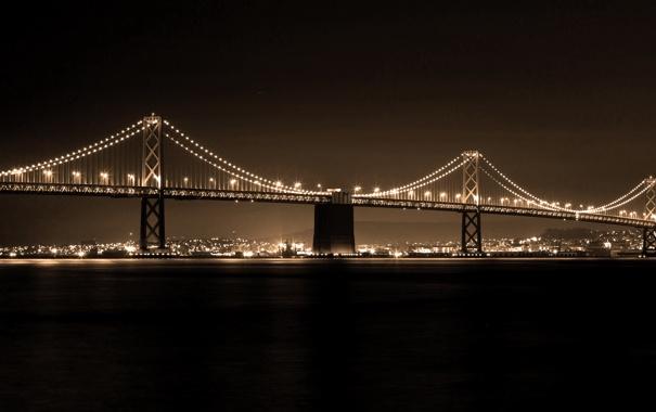 Фото обои Skyline, San Francisco, the Bay Bridge