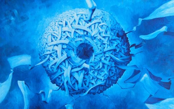 Фото обои абстракция, глаз, шар