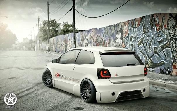 Фото обои polo, Volkswagen, tuning