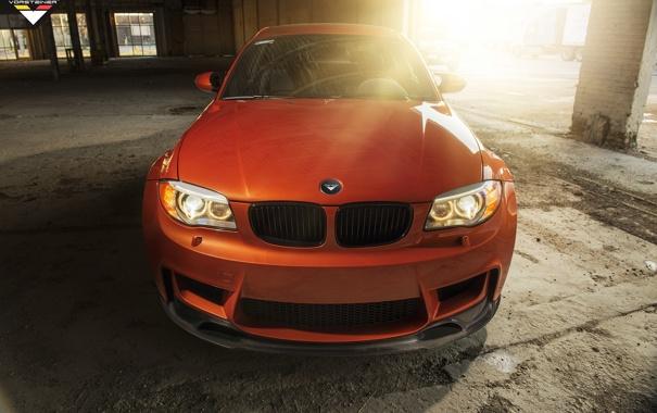 Фото обои капот, BMW, автомобиль, Vorsteiner, передок, 1 series, E82