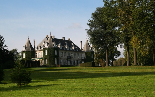 Фото обои замок, бельгия, Solvay Castle, La Hulpe
