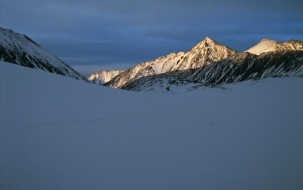 Фото обои зима, горы, свет, снег
