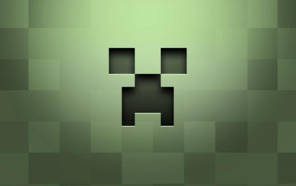 Фото обои зеленый, фигура, minimal, пиксели
