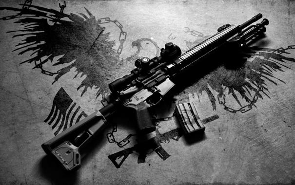 Фото обои фон, винтовка, карабин, штурмовая, полуавтоматическая