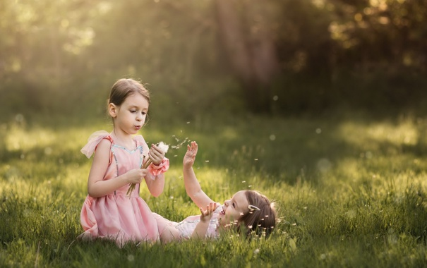 Фото обои лето, настроение, девочки