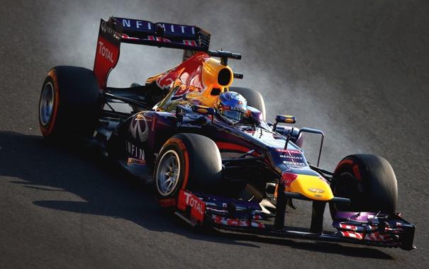 Фото обои формула 1, болид, race, formula one, red bull, Sebastian Vettel, себастьян феттель