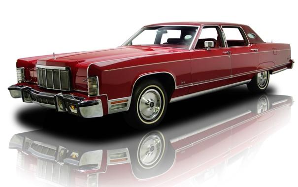 Фото обои Lincoln, красный, отражение, фон, Continental, Континенталь, седан