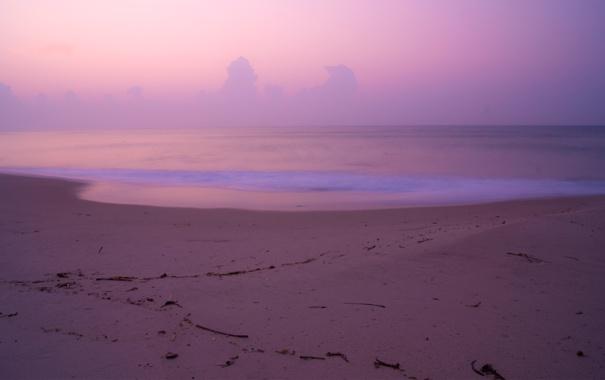 Фото обои песок, море, пляж, небо, вода, облака, пейзаж