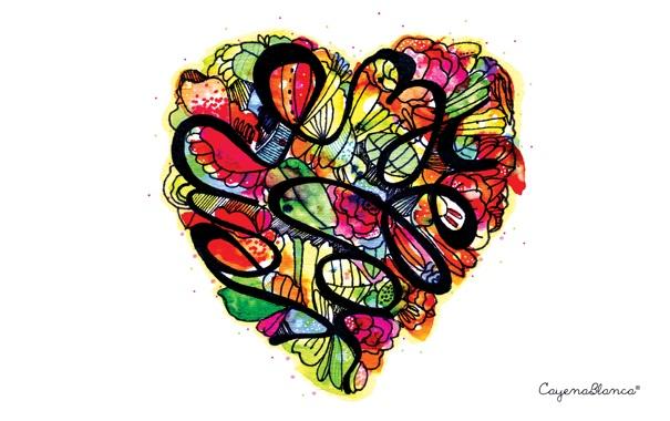 Фото обои Сердце, сердечко, из цветов