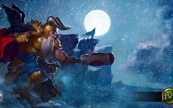 Фото обои бог, Heroes of Newerth, Tundra, odin, Allfather Odin