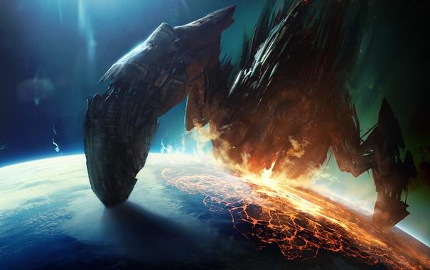 Фото обои Планета, Вторжение, Purge, Огонь, Invasion
