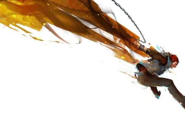 Фото обои прыжок, игра, арт, парень, sony, эксклюзив, ps4