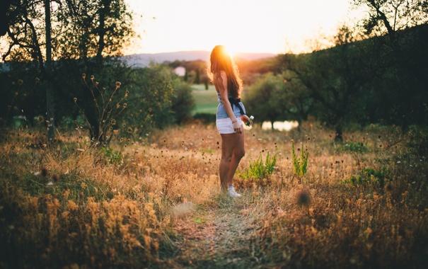 Фото обои лето, девушка, свет